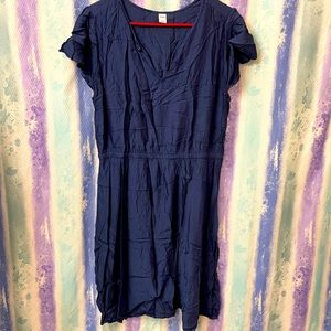 Navy blue bunched waist dress from old navy